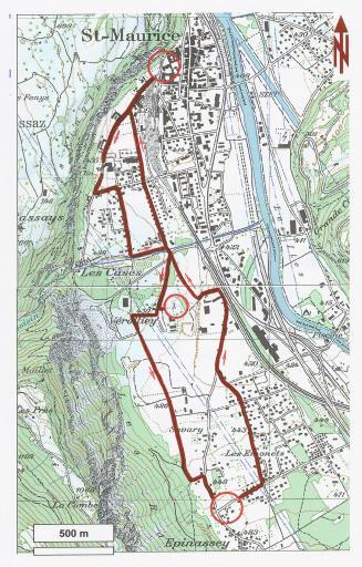 1500e Foulée du Cardinal parcours 7,5km